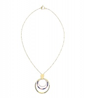 Kaia necklace - dusk hoops
